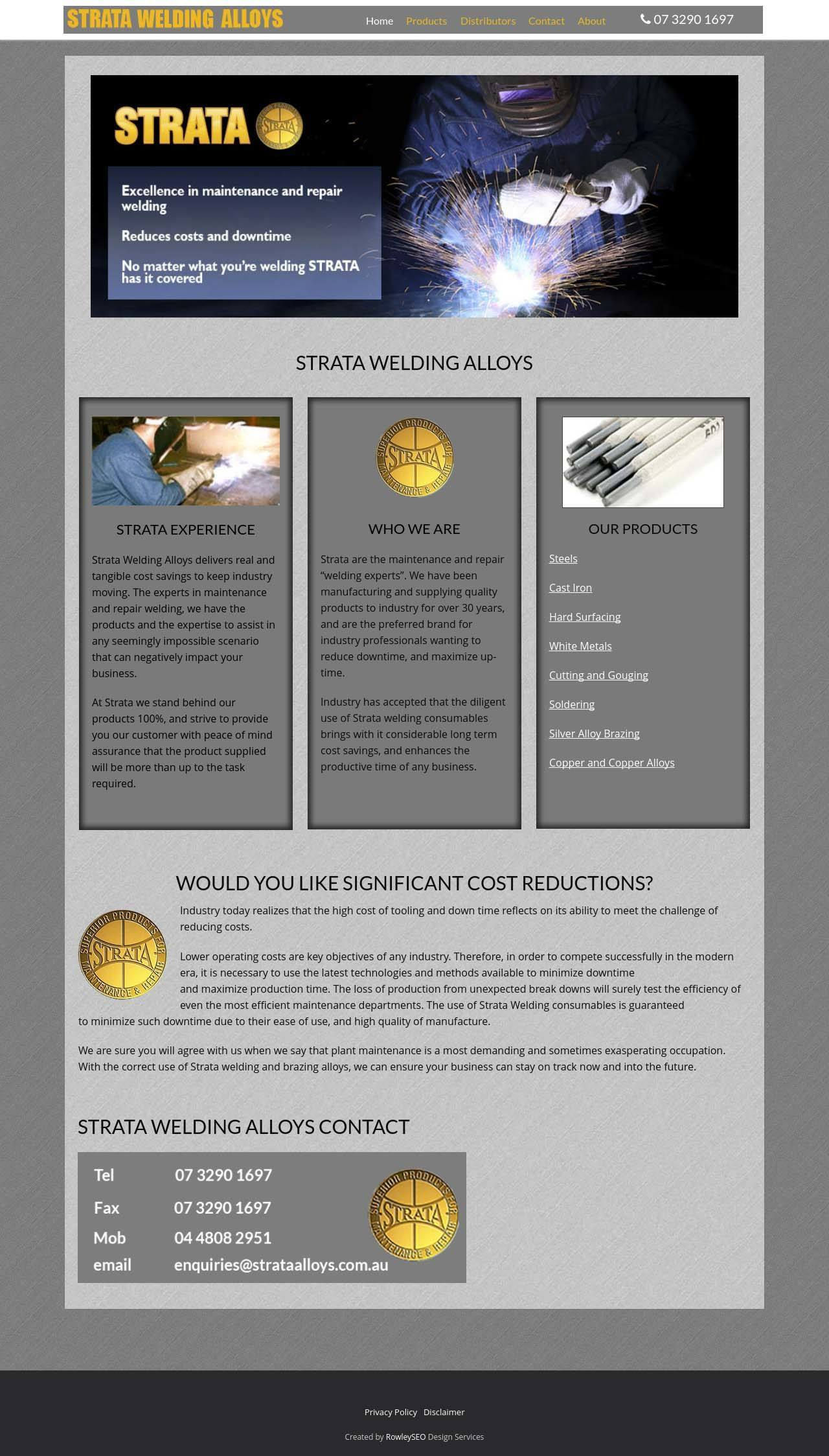 strata welding website optimized